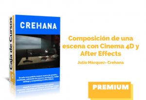 Composición escena con Cinema 4D y After Effects